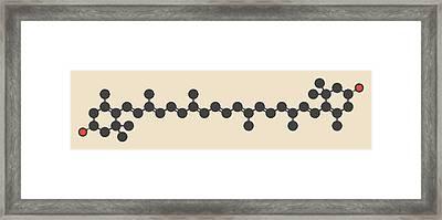 Zeaxanthin Yellow Pigment Molecule Framed Print by Molekuul