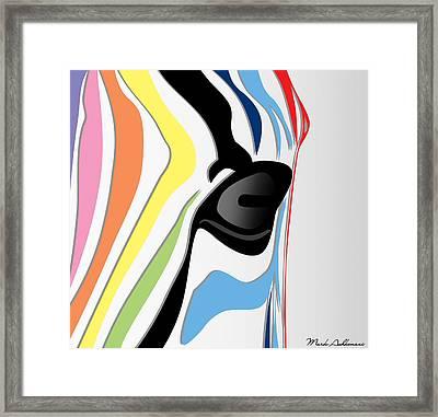 Zebra 1 Framed Print by Mark Ashkenazi