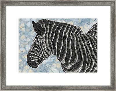 Zebra 6 Framed Print by Jack Zulli