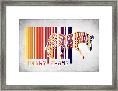 Zebra Barcode Framed Print by Mark Ashkenazi
