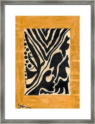 Zebra Framed Print by Carla Sa Fernandes
