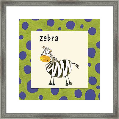 Zebra Framed Print by Esteban Studio