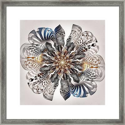 Zebra Flower Framed Print by Anastasiya Malakhova