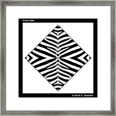 Zebra Skin Framed Print by Roberto Alamino