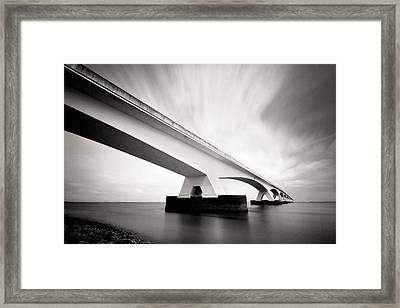 Zeelandbridge Framed Print by Nina Papiorek