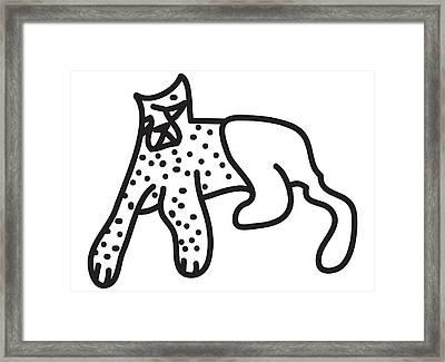 Zef Cheetah Framed Print by Jera Sky