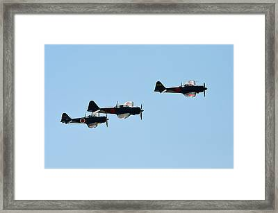 Zeke Fighter Framed Print by Camille Lopez
