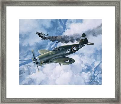Zemke's Thunder Framed Print by Randy Green