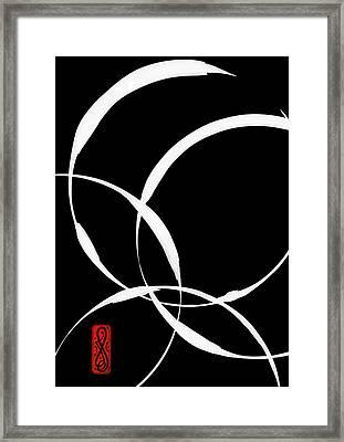 Zen Circles 2 Inverted Framed Print by Hakon Soreide