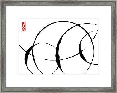 Zen Circles 3 Framed Print by Hakon Soreide