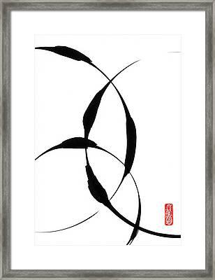 Zen Circles 5 Framed Print by Hakon Soreide