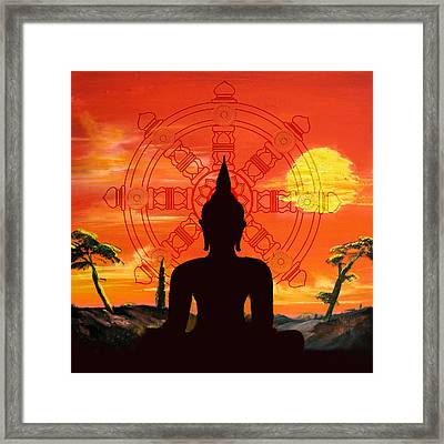 Zen Framed Print by Corporate Art Task Force