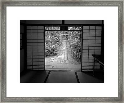 Zen Garden Walkway Framed Print by Daniel Hagerman