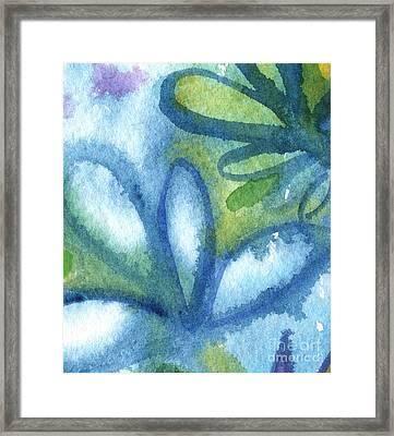 Zen Leaves Framed Print by Linda Woods