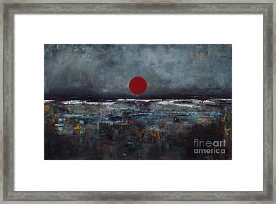 Zen Moon Framed Print by Frances Marino