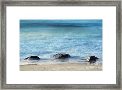 Zen Rocks Framed Print by John Greim