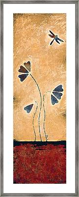 Zen Splendor - Dragonfly Art By Sharon Cummings. Framed Print by Sharon Cummings