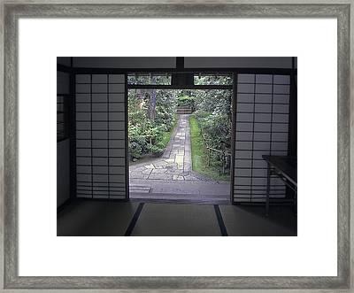 Zen Tea House Dream Framed Print by Daniel Hagerman