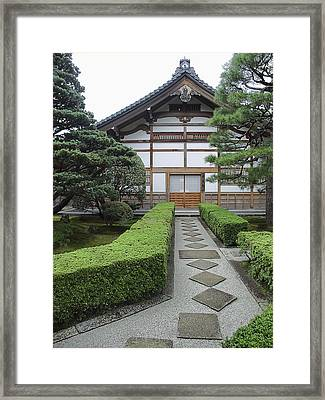 Zen Walkway - Kyoto Japan Framed Print by Daniel Hagerman