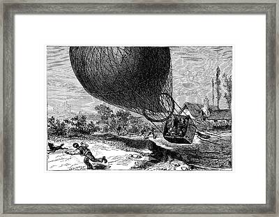 'zenith' Balloon Crash Framed Print by Science Photo Library
