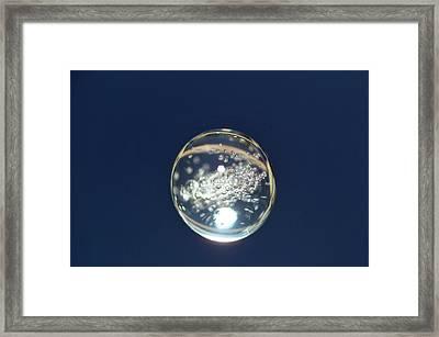 Zeolite Crystal Growth In Space Framed Print by Nasa