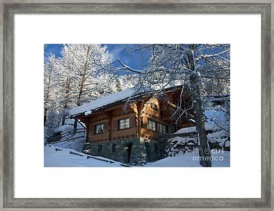 Zermatt Chalet Framed Print by Brian Jannsen