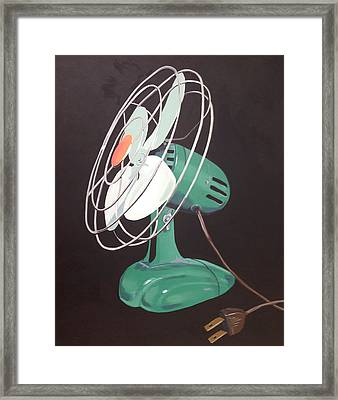 Zero Vintage Fan Framed Print by Jeffrey Bess