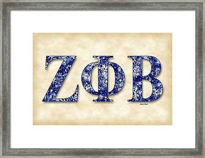 Zeta Phi Beta - Parchment Framed Print by Stephen Younts