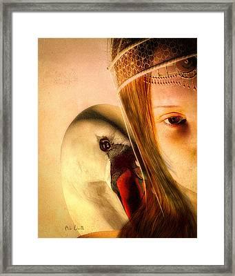 Zeus And Leda Framed Print by Bob Orsillo