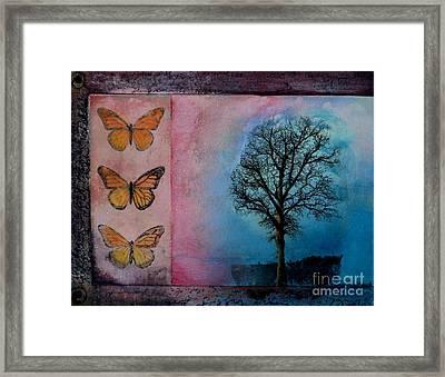 Zig's Tree Framed Print by Cynthia Vaught
