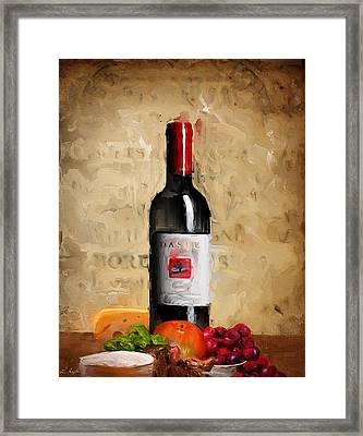 Zinfandel Iv Framed Print by Lourry Legarde