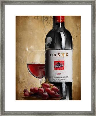 Zinfandel V Framed Print by Lourry Legarde