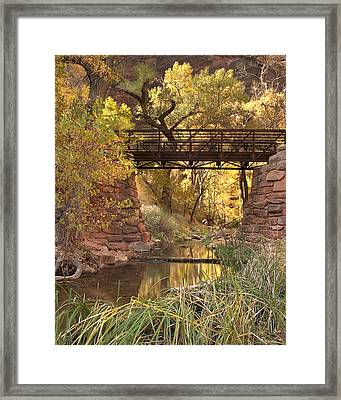 Zion Bridge Framed Print by Adam Romanowicz