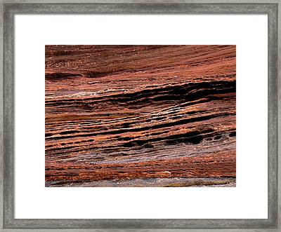 Zion Red Rock Framed Print by Rona Black