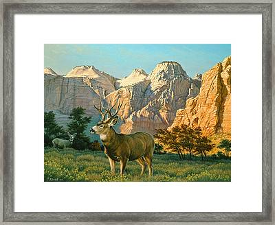 Zioncountry Muleys Framed Print by Paul Krapf