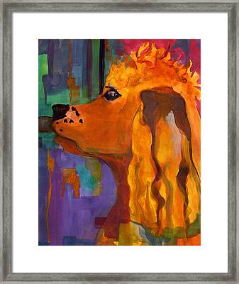 Zippy Dog Art Framed Print by Blenda Studio