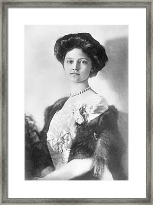 Zita  Hrh Empress Of Austria, Princess Of Bourbon And Parma, 1914 Framed Print by Austrian School