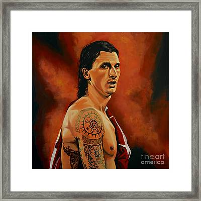 Zlatan Ibrahimovic Painting Framed Print by Paul Meijering