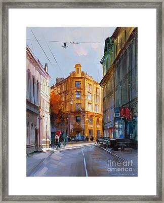 Zlatoustinskiy Alley.  Framed Print by Alexey Shalaev