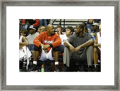 Zo And Shaq Framed Print by Don Olea