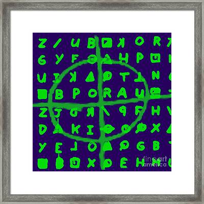 Zodiac Killer Code And Sign 20130213p128 Framed Print by Wingsdomain Art and Photography