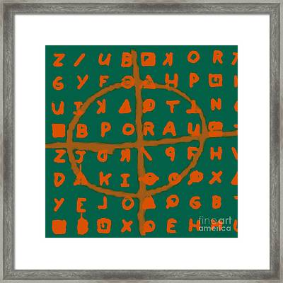 Zodiac Killer Code And Sign 20130213p28 Framed Print by Wingsdomain Art and Photography