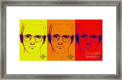 Zodiac Killer Three With Sign 20130213 Framed Print by Wingsdomain Art and Photography