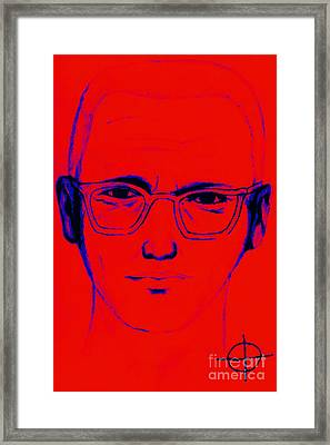 Zodiac Killer With Sign 20130213m128 Framed Print by Wingsdomain Art and Photography