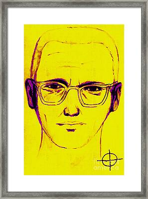 Zodiac Killer With Sign 20130213m68 Framed Print by Wingsdomain Art and Photography