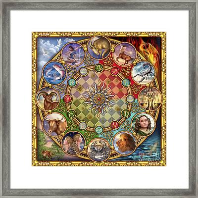 Zodiac Mandala Framed Print by Ciro Marchetti