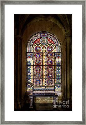 Zodiac Window Framed Print by Adrian Evans