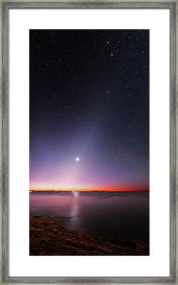 Zodiacal Light Over An Atlantic Coastline Framed Print by Babak Tafreshi