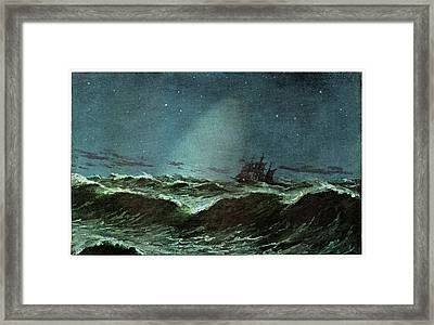 Zodiacal Light Over The Sea Framed Print by Cci Archives