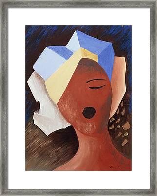 Zoe Chante I Framed Print by Marie Hugo
